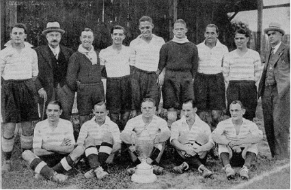 Les pros du Racing Club en 1936.