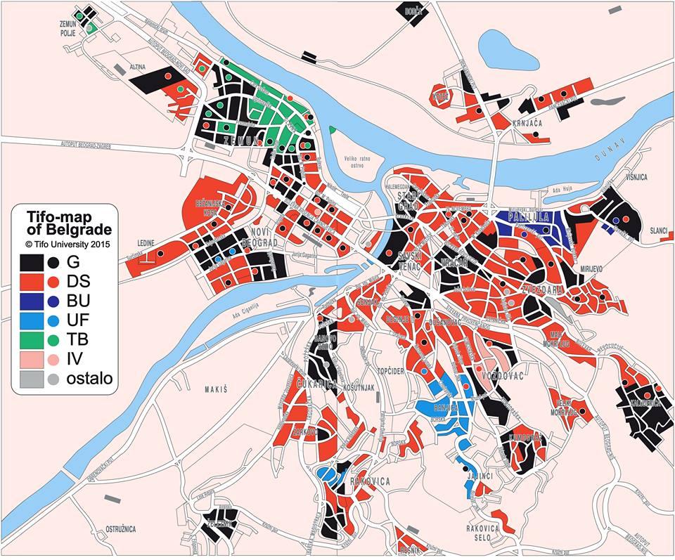 Les territoires de Belgrade