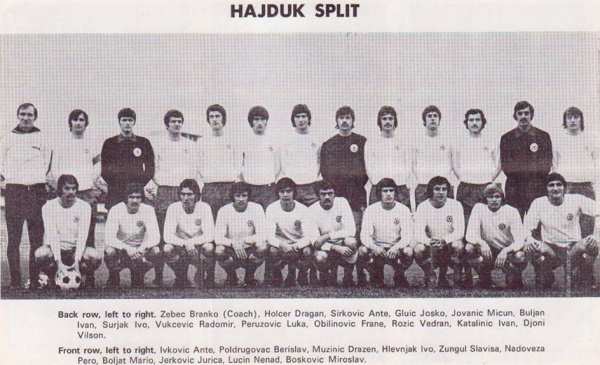 Dragan Holcer sous le maillot de l'Hajduk Split.