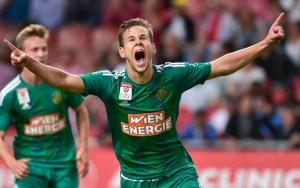 Louis Schaub buteur face à l'Ajax, symbole de l'insouciance du Rapid cette saison.