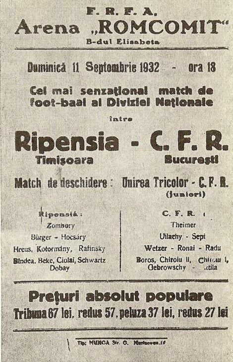 Affiche Ripensia - FB Fotbal interbelic