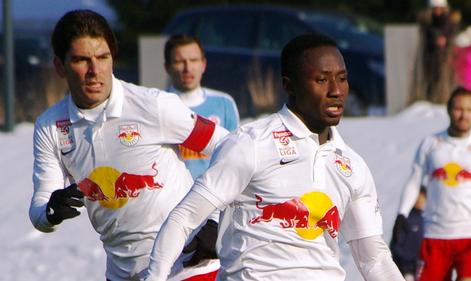 Une réelle complicité est née avec Jonathan Soriano, le goleador du Red Bull.