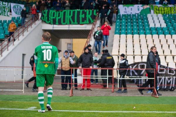 Bliznyuk, un des seuls vétérans à être resté à Gomel, n'aura pas pu éviter la descente de son club. / (c) Lavon Vouk