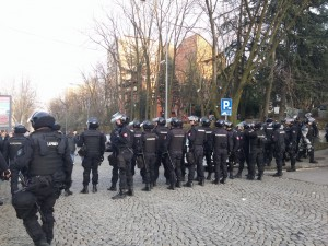Forces de police veciti derbi