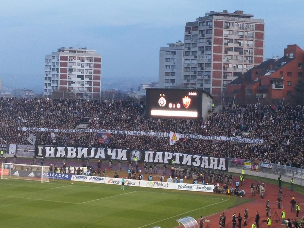 150 serbian derby. Passion madness nationalism beauty war love faith loyalty emotion mentality... Coungradulations ! (oui oui ils se sont plantés)