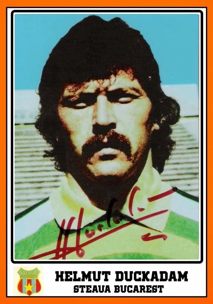 Helmuth DUCKADAM - Panini Carte Steaua Bucarest 1985-86