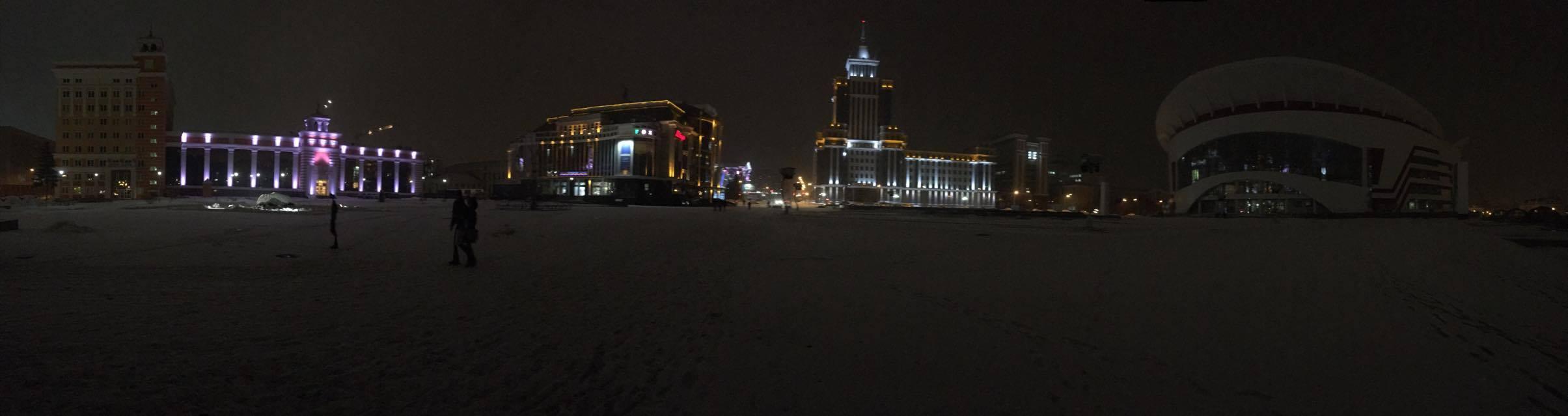 La place Tysyachiletya aujourd'hui sur l'emplacement de l'ancien stade de la ville © Adrien Laëthier