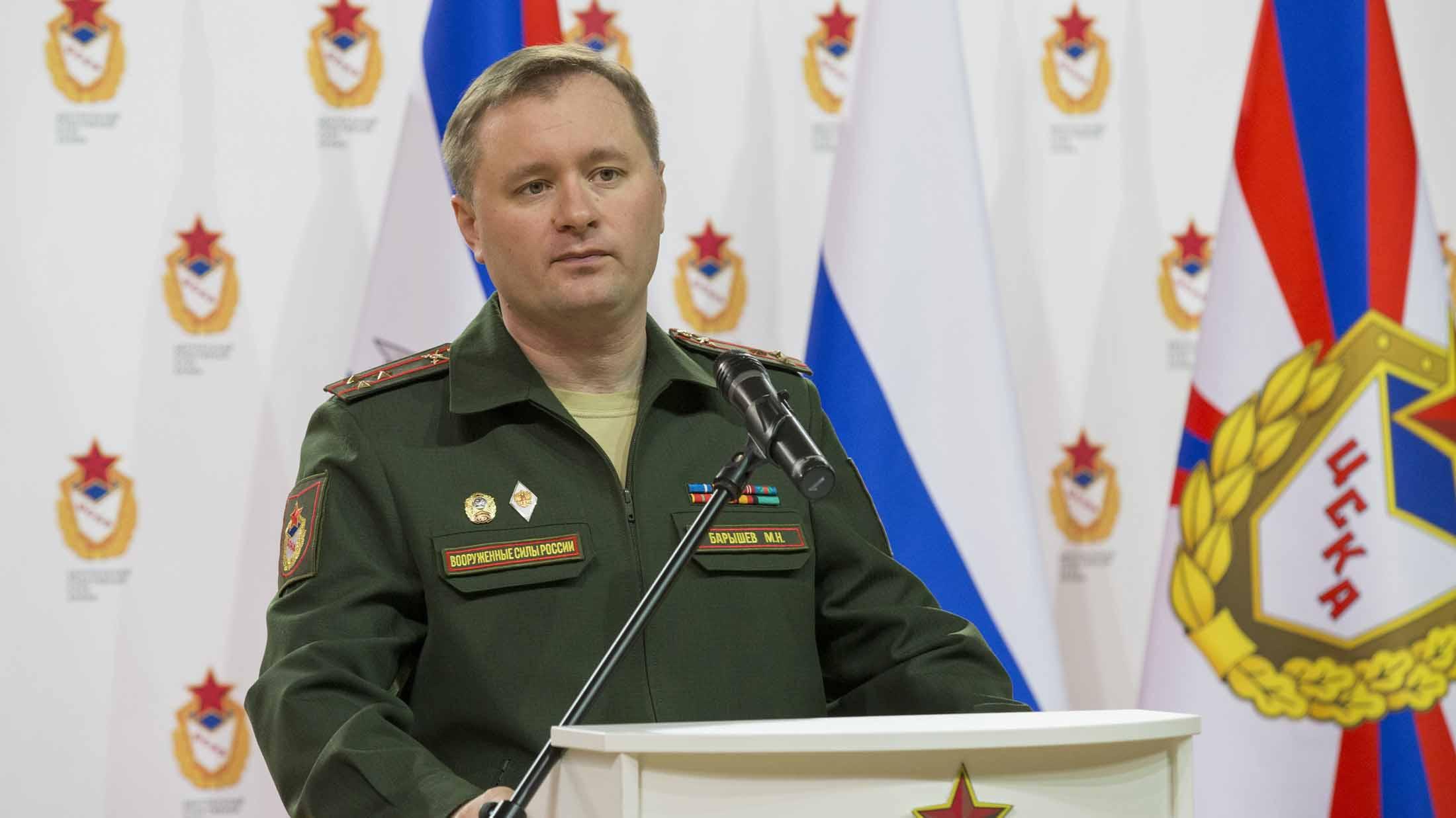 Le colonel Mikhail Baryshev à la tête du CSKA Ⓒ cska.ru