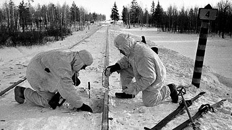 Une unité à ski opérant un sabotage durant la seconde guerre mondiale Ⓒ tvzvezda.ru