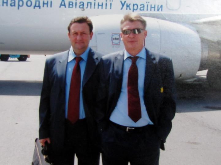 Igor Cherkasov en compagnie d'Oleg Blokhin Ⓒ sovsport.ru