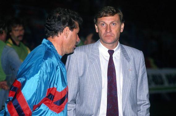 Eduard Geyer (à droite) et son assistant Eberhard Vogel, à Bruxelles le 12 septembre 1990 | © DPA