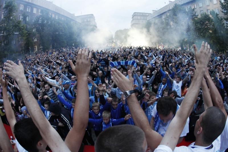 Célébration de la montée en III Liga (4eme division) | © nh2010.pl